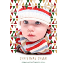 Christmas Photo Cards 5x7 Cards, Premium Cardstock 120lb with Rounded Corners, Card & Stationery -Golden Christmas Cheer