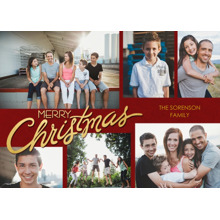 Christmas Photo Cards 5x7 Cards, Premium Cardstock 120lb with Rounded Corners, Card & Stationery -Scripted Christmas