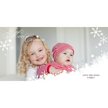 Christmas Photo Cards 4x8 Flat Card Set, 85lb, Card & Stationery -Snowfall