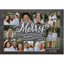 Christmas Photo Cards 5x7 Cards, Premium Cardstock 120lb with Elegant Corners, Card & Stationery -Christmas 2018 Swirl by Tumbalina