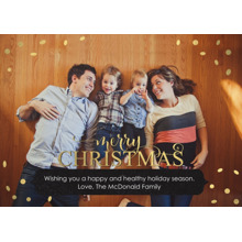 Christmas Photo Cards 5x7 Cards, Premium Cardstock 120lb with Rounded Corners, Card & Stationery -Gilded Glam