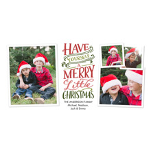 Christmas Photo Cards 4x8 Flat Card Set, 85lb, Card & Stationery -Christmas Merry Little Collage