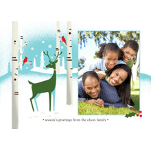Christmas Photo Cards 5x7 Cards, Premium Cardstock 120lb with Rounded Corners, Card & Stationery -Reindeer Holiday