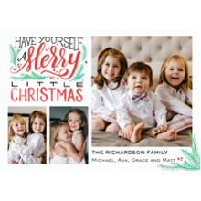 Christmas Photo Cards 5x7 Cards, Premium Cardstock 120lb with Elegant Corners, Card & Stationery -Christmas Merry Script Memories