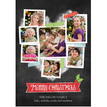 Christmas Photo Cards 5x7 Cards, Premium Cardstock 120lb with Scalloped Corners, Card & Stationery -Christmas Heart