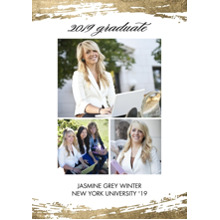 2019 Graduation Announcements 5x7 Cards, Premium Cardstock 120lb with Rounded Corners, Card & Stationery -2019 Grad Brushstrokes by Tumbalina