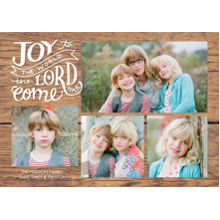 Christmas Photo Cards 5x7 Cards, Premium Cardstock 120lb with Elegant Corners, Card & Stationery -Christmas Rustic Joy to the World Memories