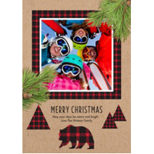 Christmas Photo Cards 5x7 Cards, Premium Cardstock 120lb with Rounded Corners, Card & Stationery -Do Not Feed The Bears