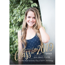 2019 Graduation Announcements 5x7 Cards, Premium Cardstock 120lb with Rounded Corners, Card & Stationery -Grad 2019 Hand Lettered by Tumbalina