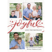 Christmas Photo Cards 5x7 Cards, Premium Cardstock 120lb with Scalloped Corners, Card & Stationery -Christmas Joyful