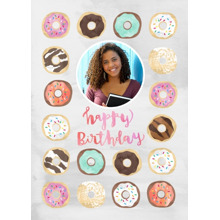 Birthday Greeting Cards 5x7 Folded Cards, Premium Cardstock 120lb, Card & Stationery -Donut Party