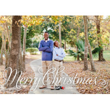 Christmas Photo Cards 5x7 Cards, Premium Cardstock 120lb with Rounded Corners, Card & Stationery -Simple Merry Christmas by Posh Paper