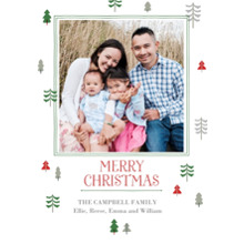 Christmas Photo Cards 5x7 Cards, Premium Cardstock 120lb with Elegant Corners, Card & Stationery -Peaceful Trees by Gartner