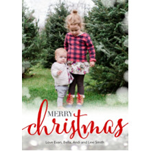 Christmas Photo Cards 5x7 Cards, Premium Cardstock 120lb with Elegant Corners, Card & Stationery -Modern Christmas Sparkle by Posh Paper
