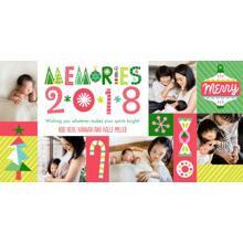 Christmas Photo Cards 4x8 Flat Card Set, 85lb, Card & Stationery -Playful Icons & Memories 2018