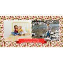Christmas Photo Cards 4x8 Flat Card Set, 85lb, Card & Stationery -Tis The Season Ribbon