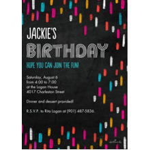 Birthday Party Invites 5x7 Cards, Premium Cardstock 120lb with Scalloped Corners, Card & Stationery -Bright Chalk