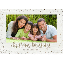 Christmas Photo Cards 5x7 Cards, Premium Cardstock 120lb with Rounded Corners, Card & Stationery -Weathered Wood Blessing