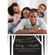 Christmas Photo Cards 5x7 Cards, Premium Cardstock 120lb with Elegant Corners, Card & Stationery -Birch Tree Lights