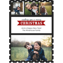 Christmas Photo Cards 5x7 Cards, Premium Cardstock 120lb with Rounded Corners, Card & Stationery -Modern Merry Christmas