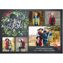 Christmas Photo Cards 5x7 Cards, Premium Cardstock 120lb with Rounded Corners, Card & Stationery -Christmas Watercolor Wreath by Tumbalina