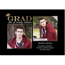 2019 Graduation Announcements 5x7 Cards, Premium Cardstock 120lb with Scalloped Corners, Card & Stationery -2019 Grad Announcement by Tumbalina