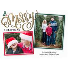 Christmas Photo Cards 5x7 Cards, Premium Cardstock 120lb with Elegant Corners, Card & Stationery -Christmas Merry Frames by Tumbalina