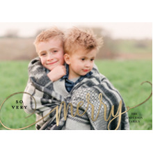 Christmas Photo Cards 5x7 Cards, Premium Cardstock 120lb with Rounded Corners, Card & Stationery -Christmas So Merry