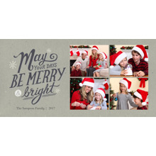 Christmas Photo Cards 4x8 Flat Card Set, 85lb, Card & Stationery -Merry Days by Well Wishes