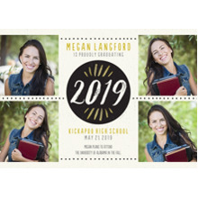 2019 Graduation Announcements 5x7 Cards, Premium Cardstock 120lb with Rounded Corners, Card & Stationery -Brushed 2019 by Hallmark
