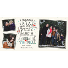 Christmas Photo Cards 4x8 Flat Card Set, 85lb, Card & Stationery -Every Creature Great and Small