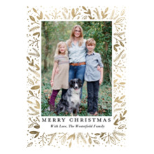 Christmas Photo Cards 5x7 Cards, Premium Cardstock 120lb with Elegant Corners, Card & Stationery -Christmas Elegant Foliage