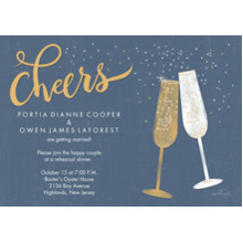 Anniversary Invitations Flat Matte Photo Paper Cards with Envelopes, 5x7, Card & Stationery -Sparkling Champagne Toast