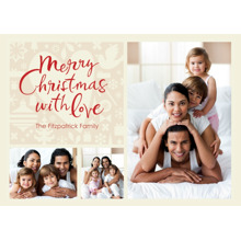 Christmas Photo Cards 5x7 Cards, Premium Cardstock 120lb with Elegant Corners, Card & Stationery -Merry Christmas With Love