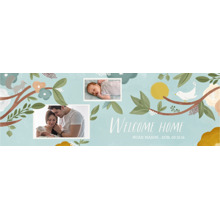 Baby + Kids Photo Banner 2x6, Home Decor -Watercolor Welcome