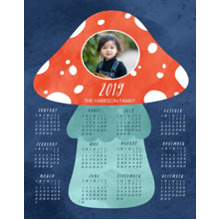 Calendar 11x14 Peel, Stick & Reuse, Home Decor -Amantia Muscaria