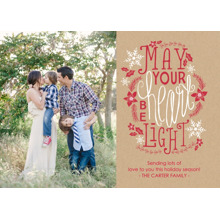 Christmas Photo Cards 5x7 Cards, Premium Cardstock 120lb with Rounded Corners, Card & Stationery -Light Hearted Wishes