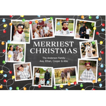 Christmas Photo Cards 5x7 Cards, Premium Cardstock 120lb with Elegant Corners, Card & Stationery -Christmas Festive String of Lights