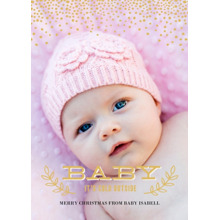 Christmas Photo Cards 5x7 Cards, Premium Cardstock 120lb with Scalloped Corners, Card & Stationery -Baby Its Cold Outside