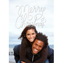 Christmas Photo Cards 5x7 Cards, Premium Cardstock 120lb with Elegant Corners, Card & Stationery -Merry Christmas Cursive