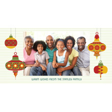 Christmas Photo Cards 4x8 Flat Card Set, 85lb, Card & Stationery -Warm Wishes Ornaments