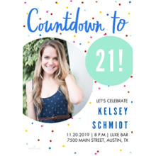 Birthday Party Invites 5x7 Cards, Standard Cardstock 85lb, Card & Stationery -Countdown to Milestone