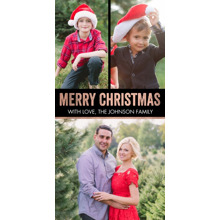 Christmas Photo Cards 4x8 Flat Card Set, 85lb, Card & Stationery -Christmas Gold Bold