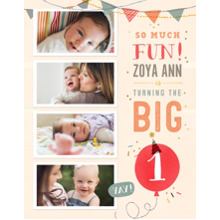 Baby + Kids 11x14 Poster, Home Decor -So Much Fun Turning One