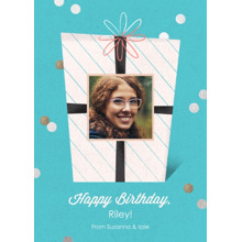 Birthday Greeting Cards 5x7 Folded Cards, Premium Cardstock 120lb, Card & Stationery -Birthday Cheer