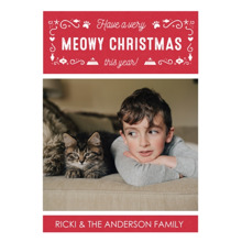 Christmas Photo Cards 5x7 Cards, Premium Cardstock 120lb with Rounded Corners, Card & Stationery -Meowy Christmas