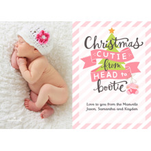 Christmas Photo Cards 5x7 Cards, Premium Cardstock 120lb with Scalloped Corners, Card & Stationery -Christmas Cutie