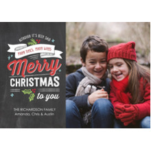 Christmas Photo Cards 5x7 Cards, Premium Cardstock 120lb with Scalloped Corners, Card & Stationery -Christmas Festive Banner