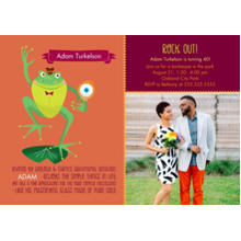 Birthday Party Invites 5x7 Cards, Standard Cardstock 85lb, Card & Stationery -Animal Personality Birthday Frog