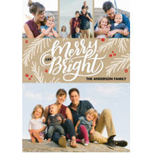 Christmas Photo Cards 5x7 Cards, Premium Cardstock 120lb with Rounded Corners, Card & Stationery -Christmas Merry and Bright Memories